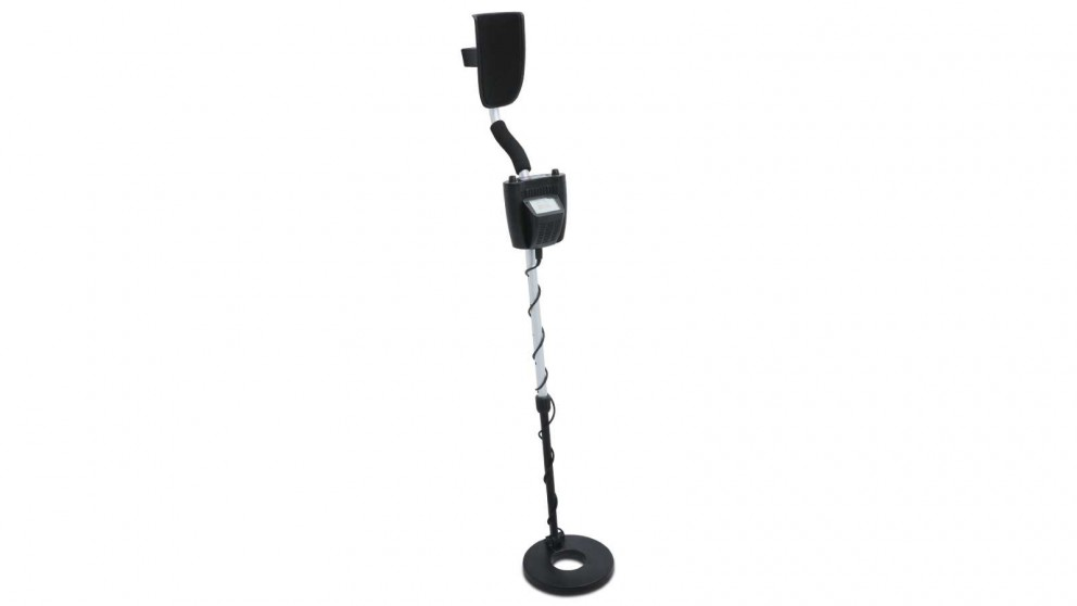 MDetector LCD Screen Metal Detector with Headphones - Silver
