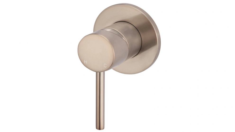 Meir Round Wall Mixer - Champagne