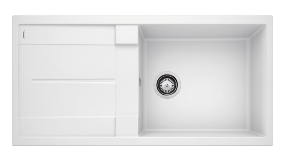 Blanco Metra XL 6 S Single Bowl Inset Sink with Drainer - White