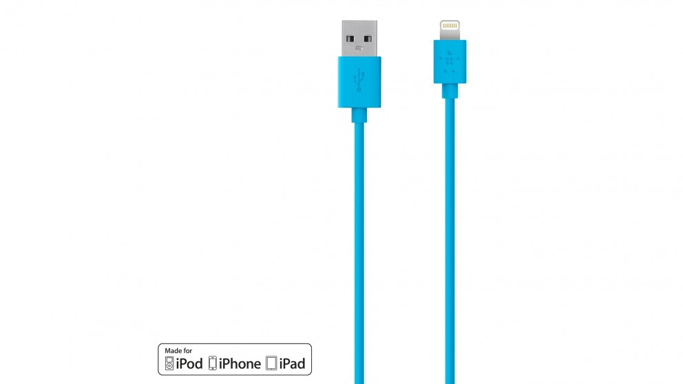Belkin Mixit Up Lightning to USB 1.2m ChargeSync Cable - Blue
