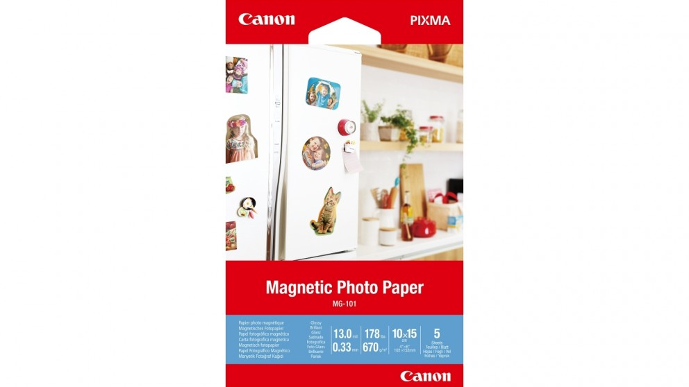 Canon 5-Sheets 4x6-inch Magnetic Photo Paper