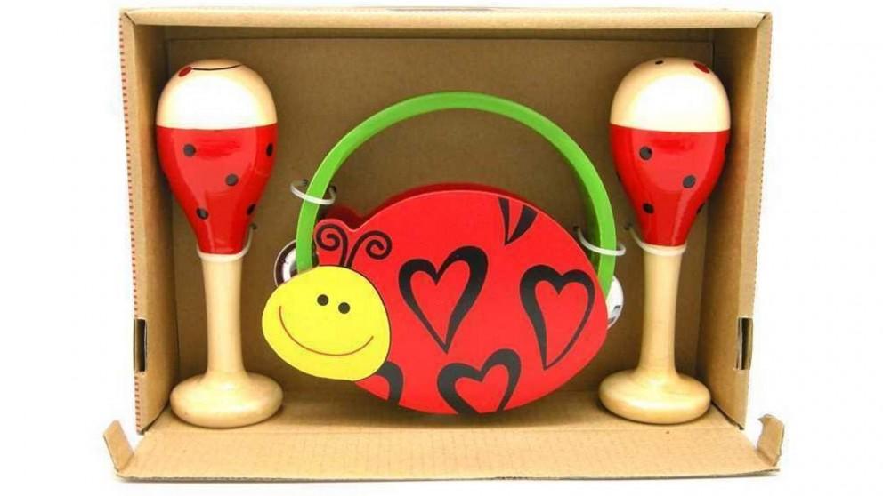 Kaper Kidz Ladybird Maracca & Tambourine