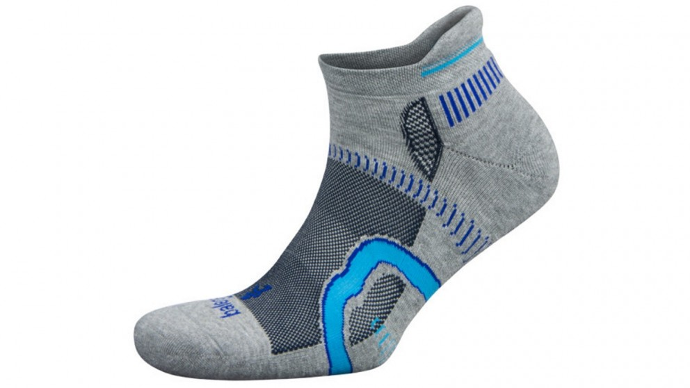 Balega Hidden Contour No Show Mid Grey/Ink Socks - Small