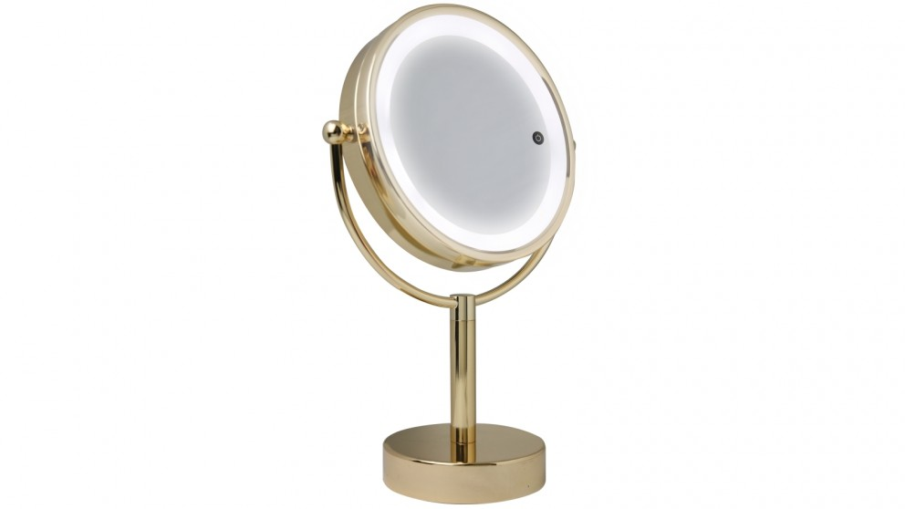 HoMedics Double Sided LED Mirror - Gold