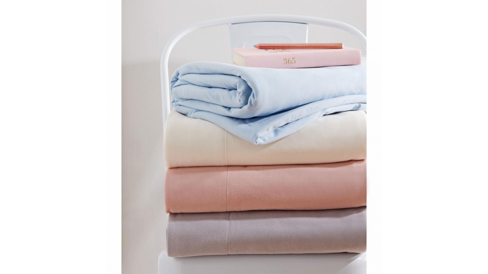 Microflannel Snow Double Sheet Set