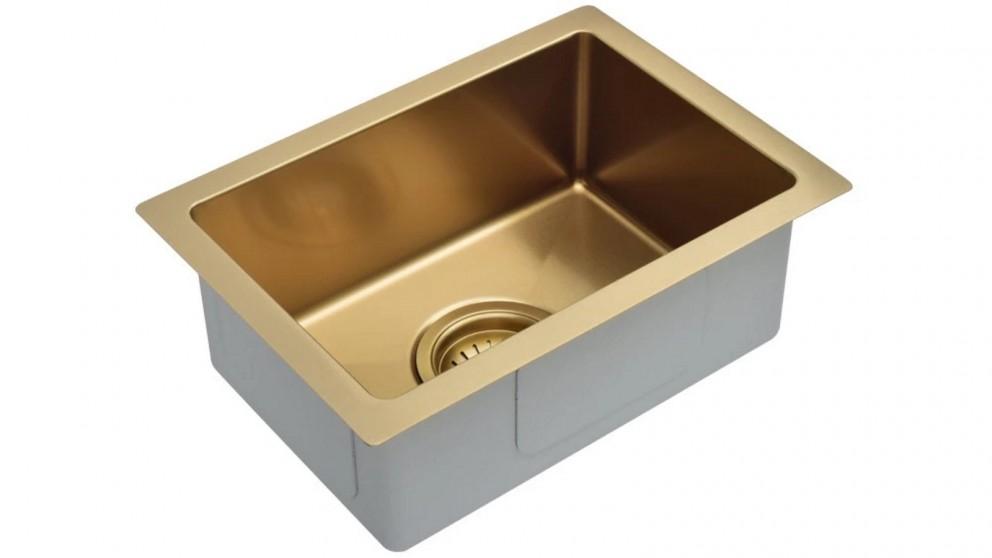 Meir Single Bowl 382x272mm Kitchen Sink - Bronzed Gold