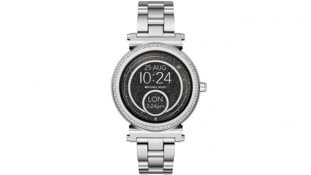buy michael kors access sofie smart watch silver. Black Bedroom Furniture Sets. Home Design Ideas