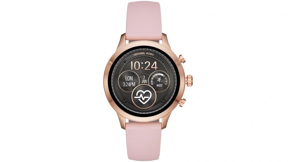 Buy Michael Kors Runway Smart Watch Pink Harvey Norman Au