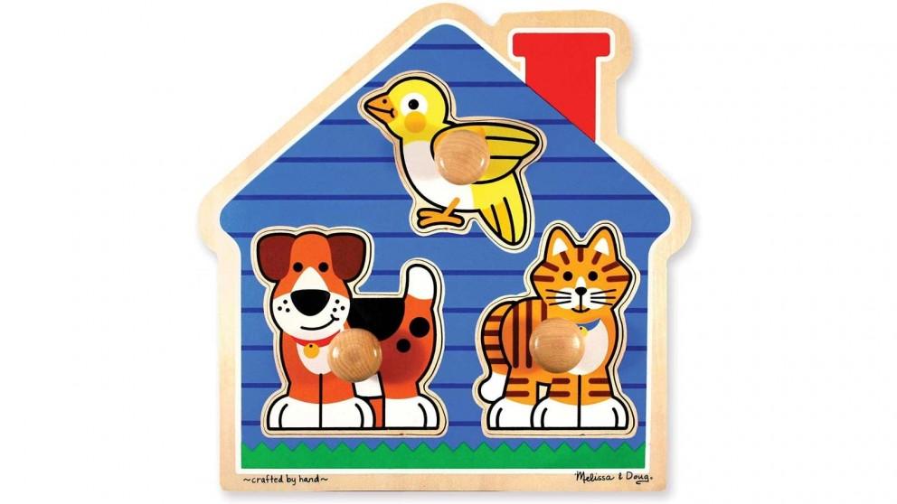 Melissa & Doug House Pets 3 Piece Knob Puzzle