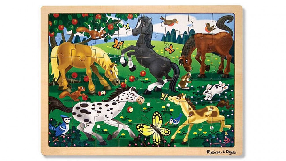Melissa and Doug Frolicking Horses 48 Piece Jigsaw Puzzle