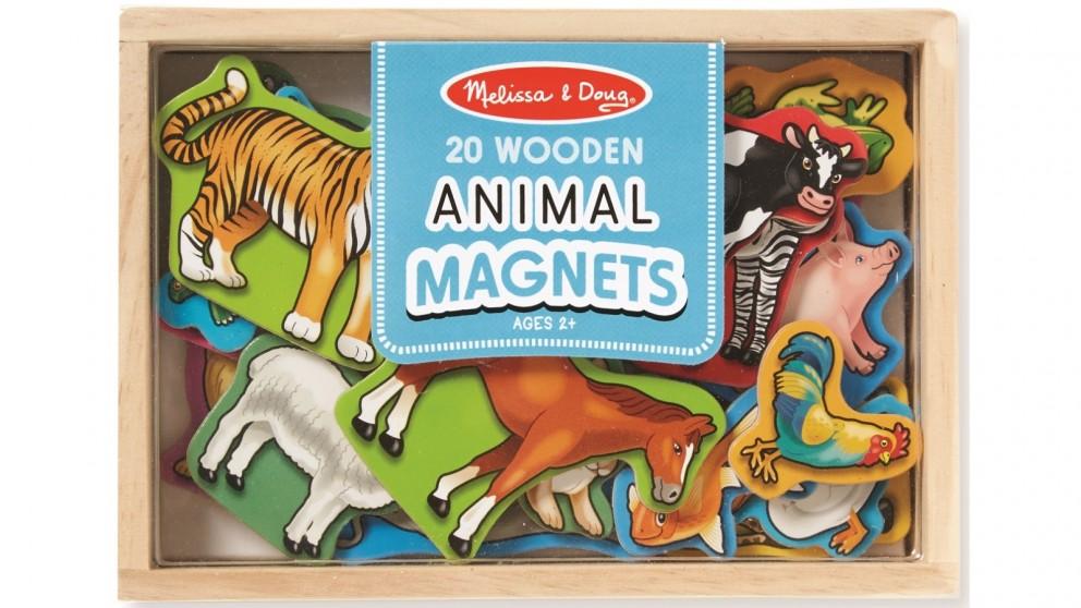 Melissa & Doug 20 Piece Magnetic Wooden Animals Set