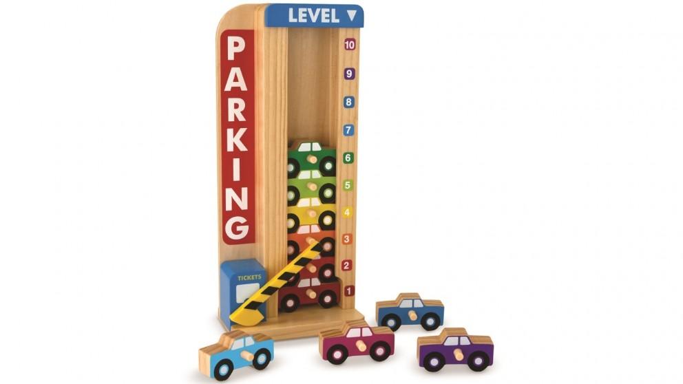 Melissa & Doug Stack & Count Parking Garage