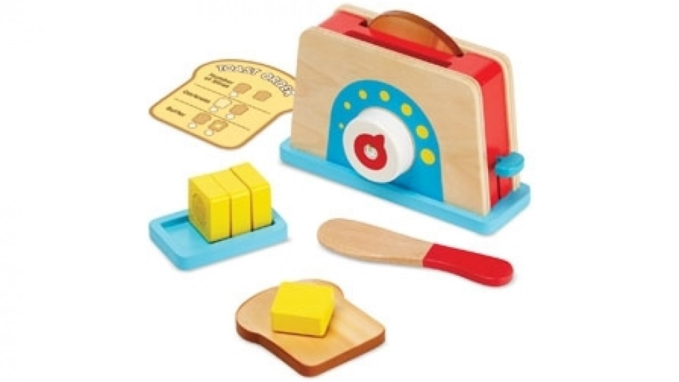 Melissa and Doug Let's Play House Toaster with Bread and Butter Set