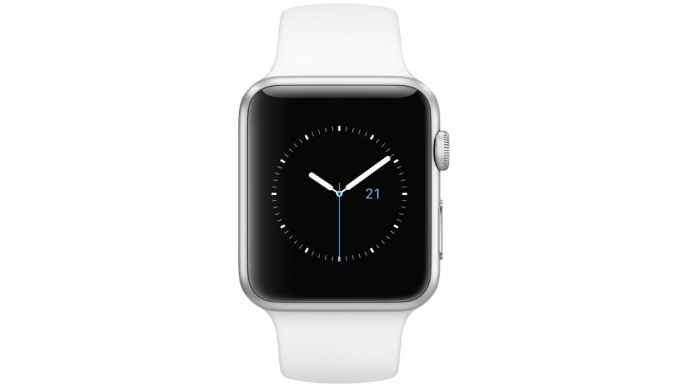 Apple Watch Series 1 - 42mm Silver Aluminium Case with White Sport Band