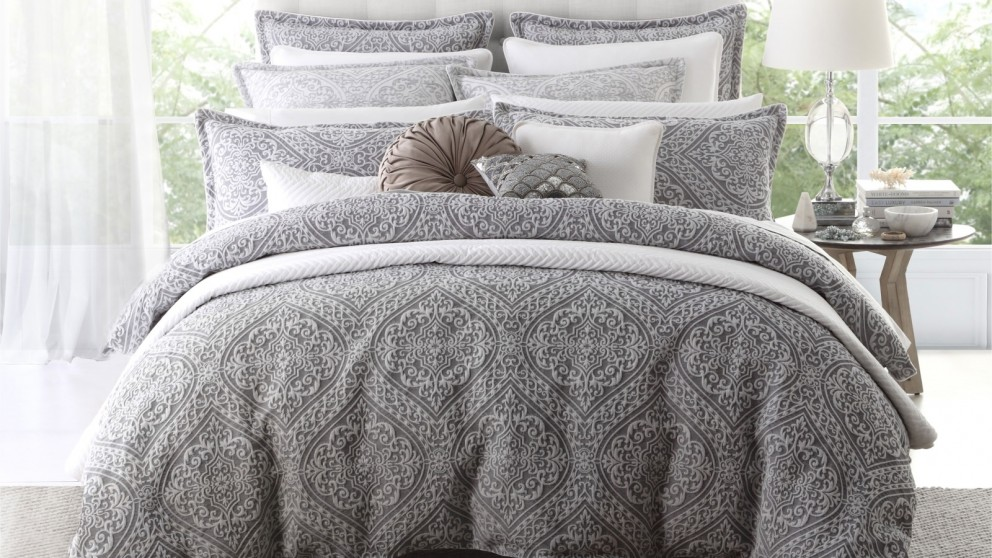 Manon Silver Quilt Cover Set
