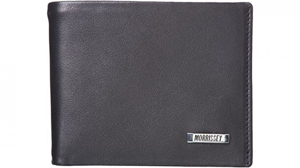 Morrissey Mens Bi-Fold Italian Leather Wallet with Flap