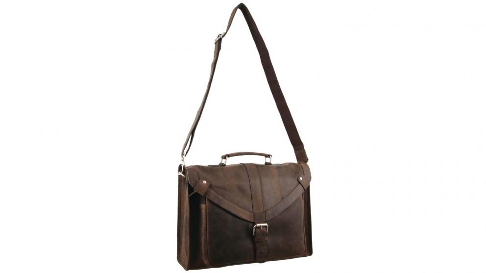Morrissey Hunter Messenger Leather Bag - Chocolate