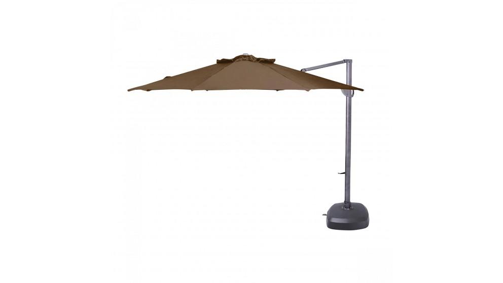 Vancouver 3.8m Octagonal Cantilever Outdoor Umbrella - Mocha