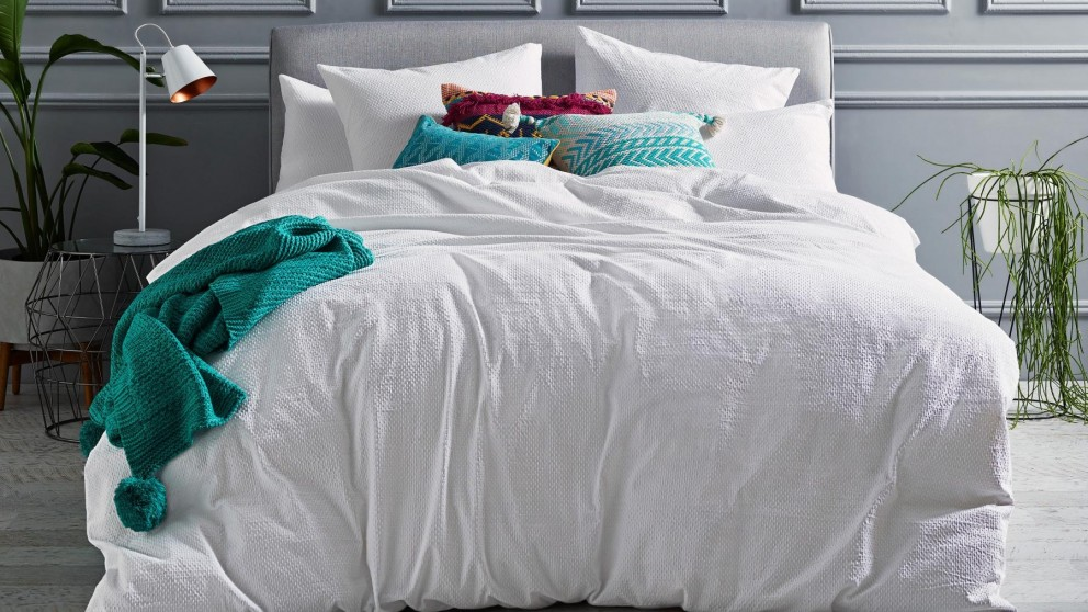 Molly White Quilt Cover Set