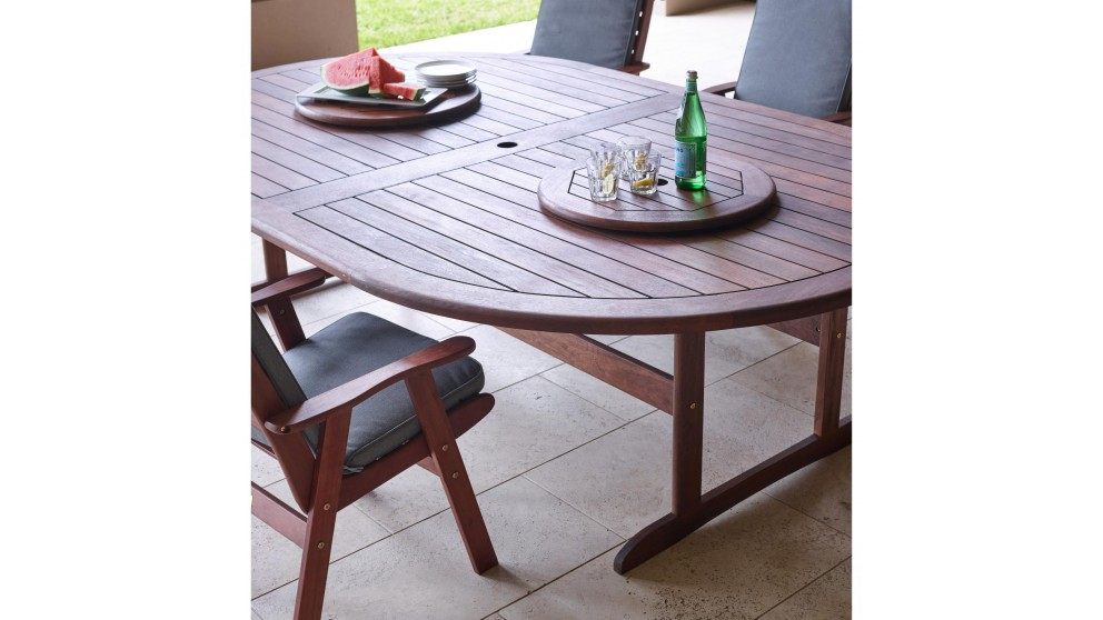 Montreal 13 piece outdoor oval dining setting outdoor for M furniture montreal