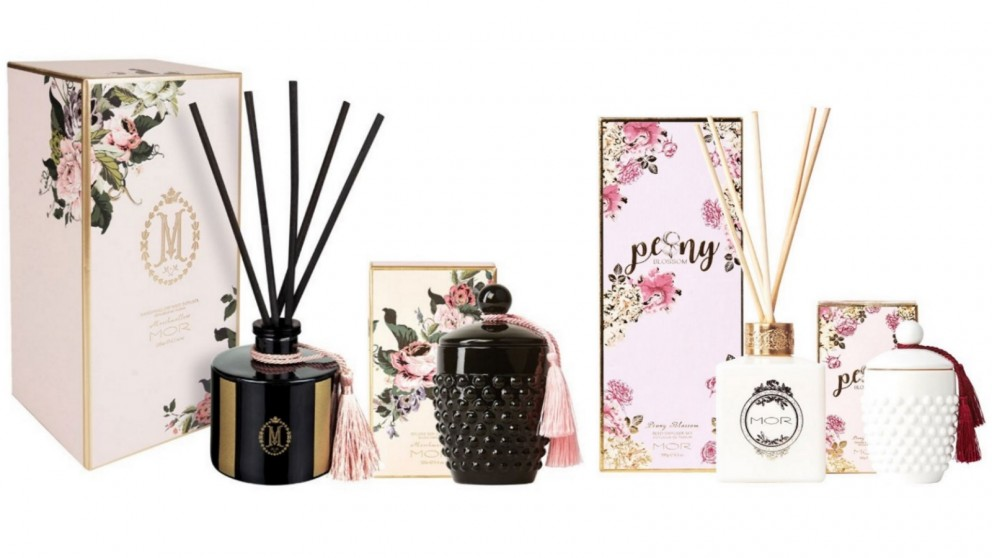MOR Deluxe Soy Candle 266g and Reed Diffuser 180ml Set