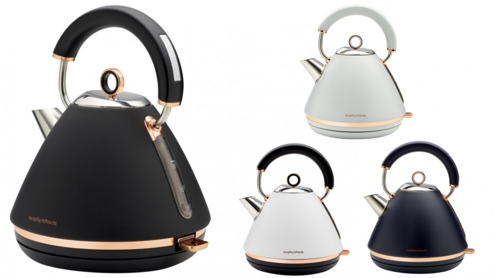 Morphy Richards 1.5L Accents Rose Gold Pyramid Kettle