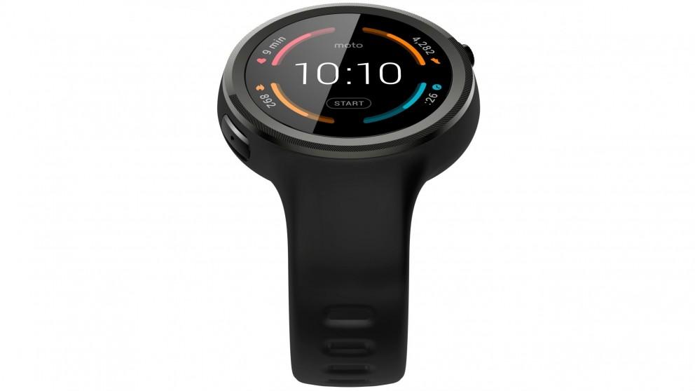 Moto 360 Sport Smart Watch - Black