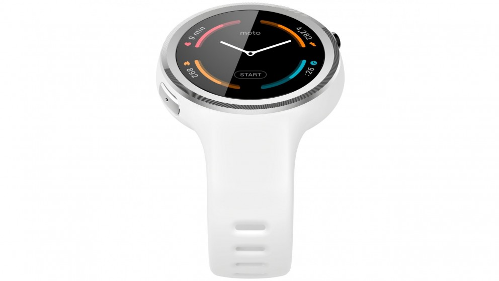 Moto 360 Sport Smart Watch - White