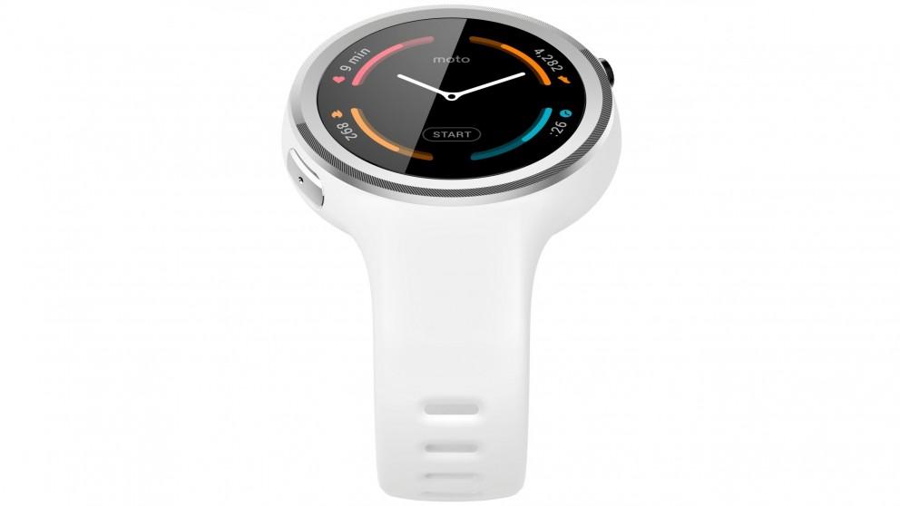 Moto 360 Sport Smart Watch - White