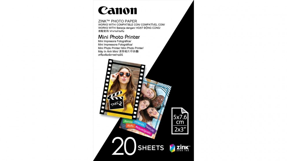 Canon Zink 20-Sheets 2x3-inch Sticky-Backed Photo Paper