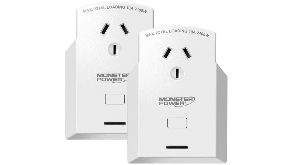 Monster Twin Pack of Single Outlet Voice-Activated Smart Power Plug
