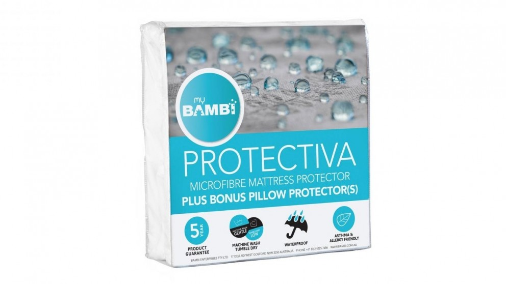 Bambi Protectiva Microfibre Queen Mattress Protector and Pillow Protector Pack