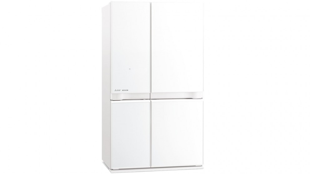 Mitsubishi 650L L4 Glass French Door Fridge - White