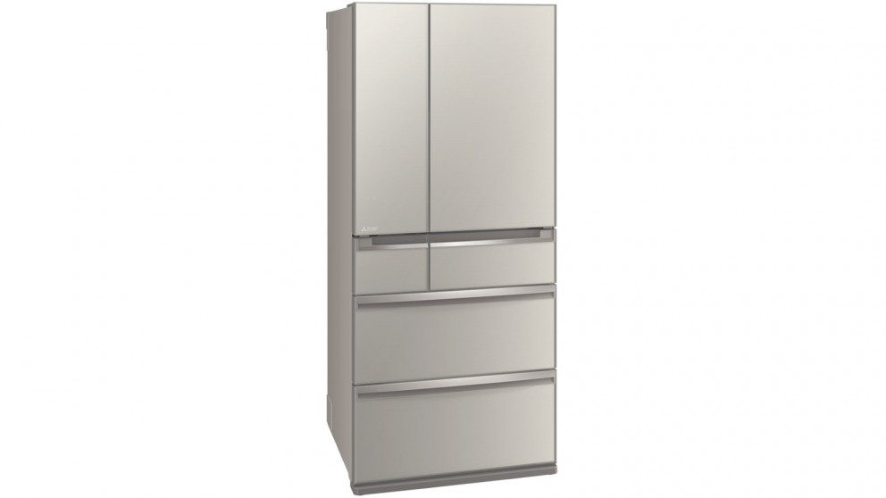Mitsubishi 743L Smart Cube Multi Drawer French Door Fridge - Silver