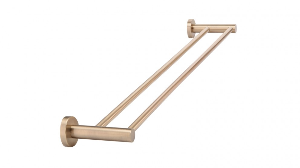 Meir 60cm Round Double Towel Rail - Champagne