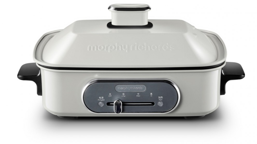 Morphy Richards Multifunction Cooking Pot with Hot Pot - White