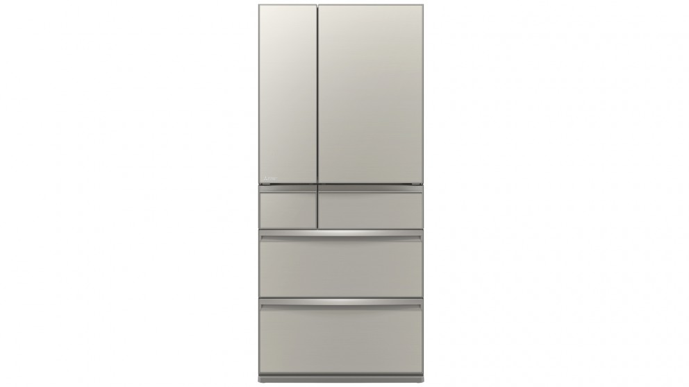Mitsubishi Electric 700L WX Serires Multi Drawer French Door Fridge - Argent Silver