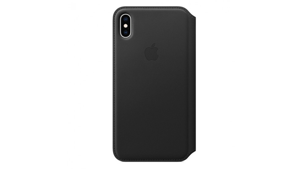 uk availability ea292 c85a2 Apple iPhone XS Max Leather Folio - Black