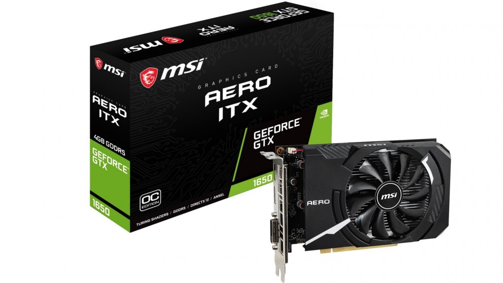 MSI NVIDIA GeForce GTX 1650 AERO ITX 4GB OC Graphics Card