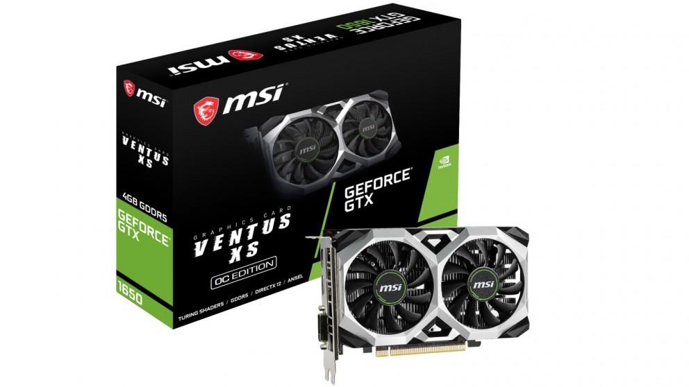 MSI NVIDIA GeForce GTX 1650 Ventus XS 4GB OC Graphics Card