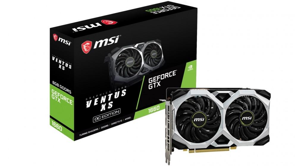 MSI NVIDIA GeForce GTX 1660 Ventus XS 6GB OC Graphics Card