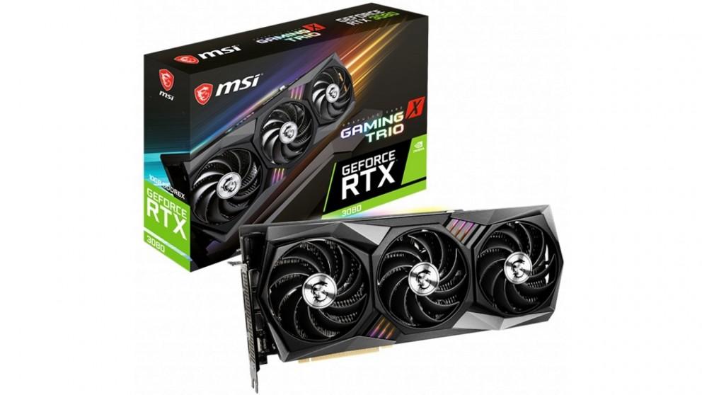 MSI Geforce RTX 3080 Gaming X Trio 10GB Graphics Card