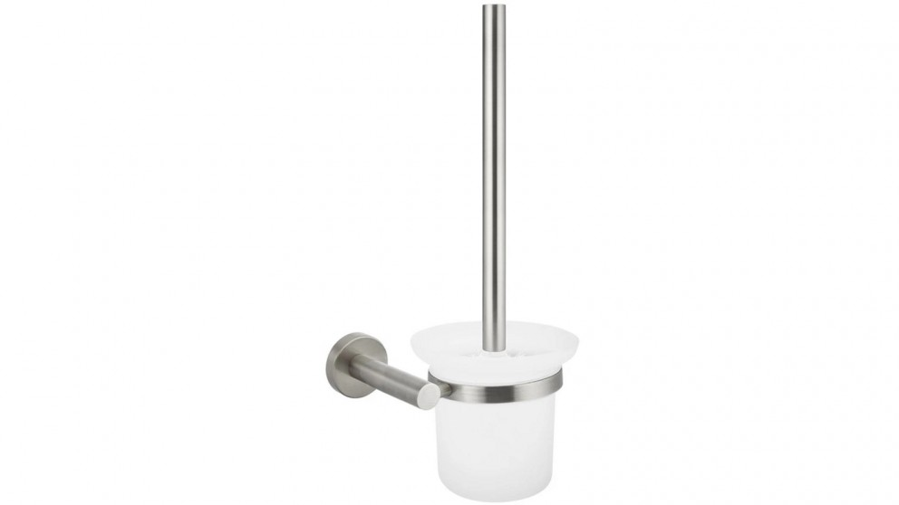 Meir Round Toilet Brush and Holder - PVD Brushed Nickel