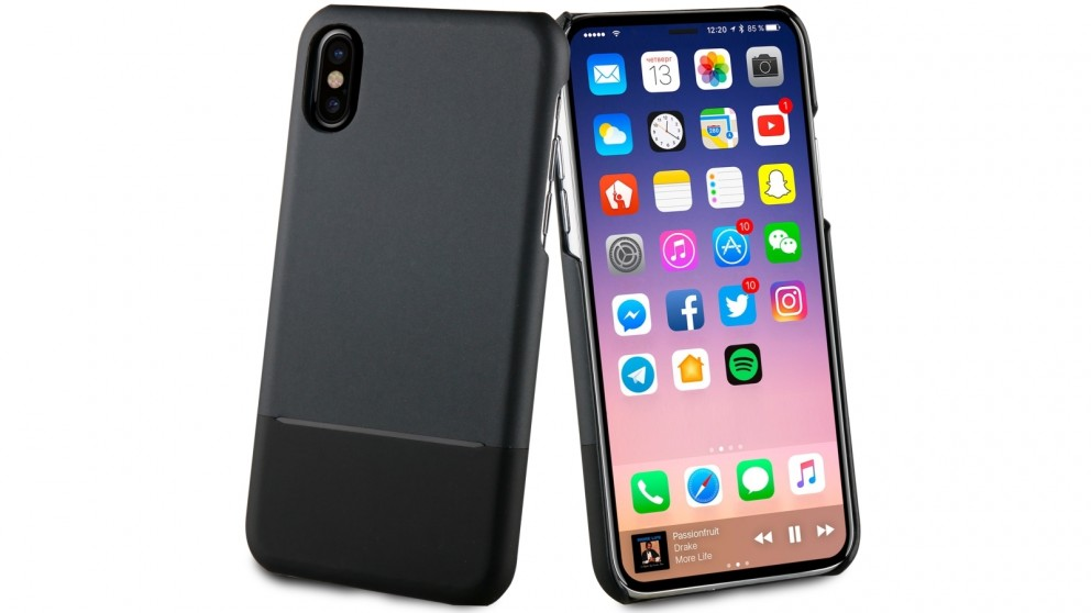 new products b1f0a 8a752 Muvit Skin Case for iPhone X - Black