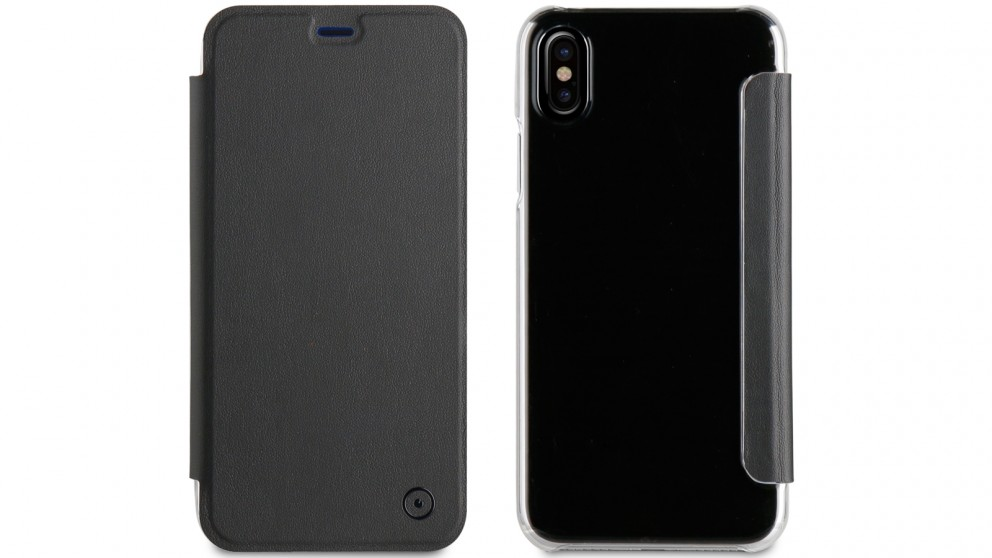 Muvit Folio Case for iPhone X - Black