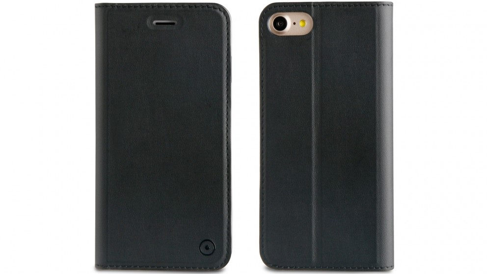 Muvit Folio Stand Case for iPhone 8 - Black