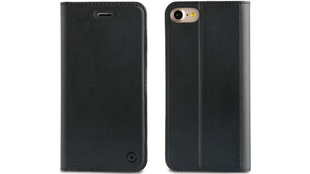 Muvit Folio Stand Case for iPhone 8 - Black