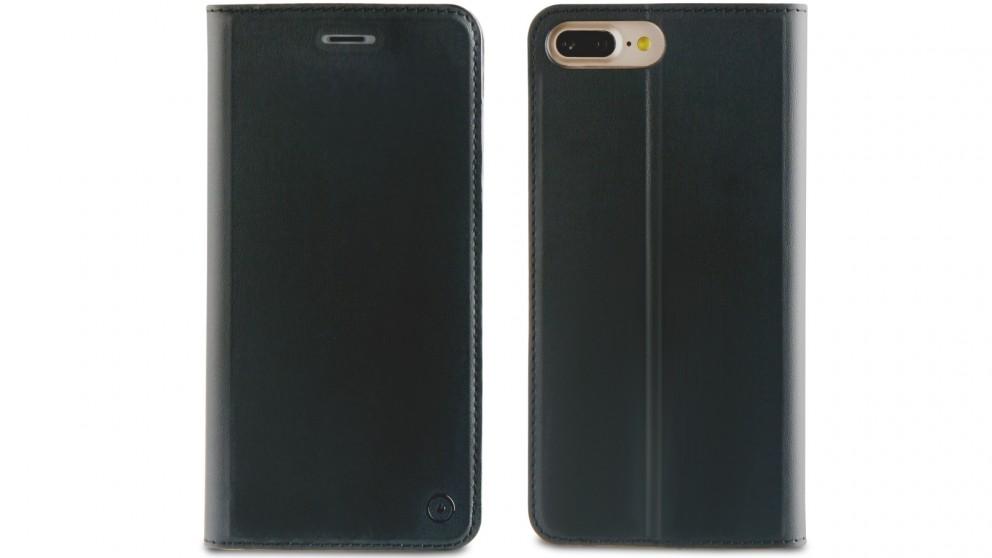 Muvit Folio Stand Case for iPhone 8 Plus - Black