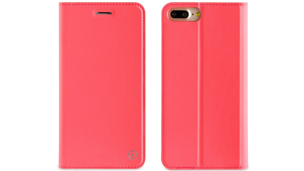 Muvit Folio Stand Case for iPhone 8 Plus - Pink