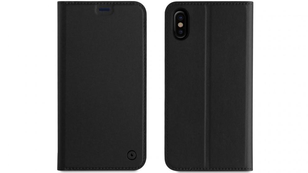 Muvit Folio Stand Case for iPhone X - Black